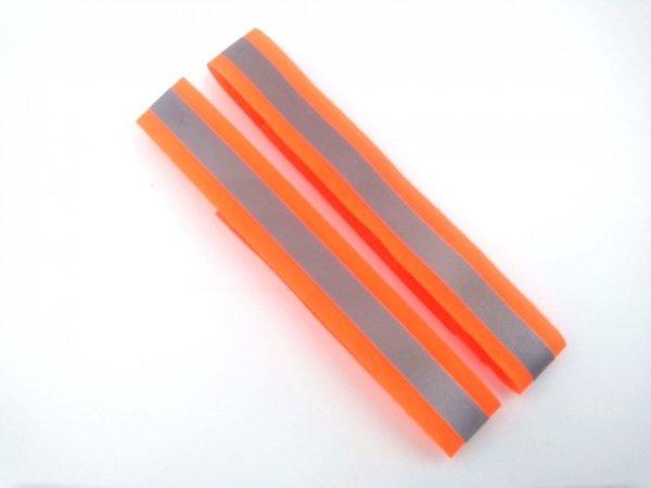 Opaski odblaskowe na rzepy 2 x 30 cm