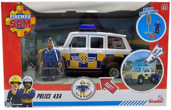 Strażak Sam Jeep Policyjny z Figurką