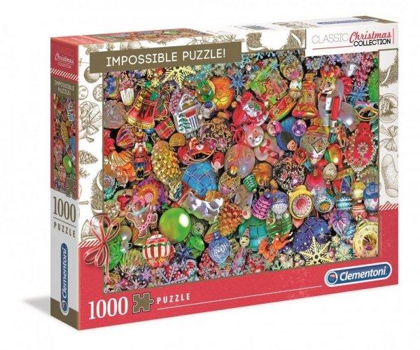 Puzzle Wesołych Świąt 1000 el. Impossible Puzzle Clementoni 39585