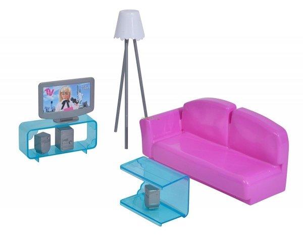 salon dla steffi z akcesoriami simba 4663235 pokój dla lalek meble 4006592024437