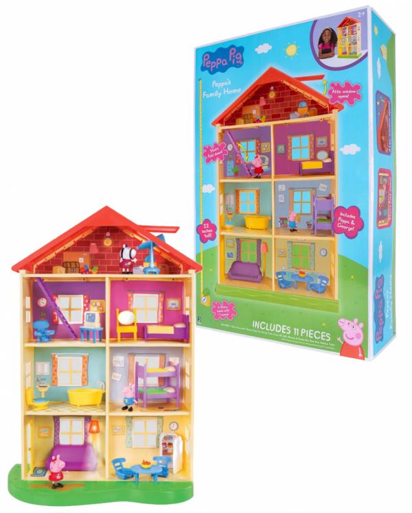 Świnka Peppa Dom Rodzinny Światło Dźwięk II TM Toys 00757