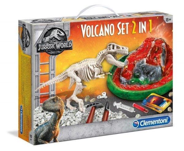 Zestaw Archeologia 2w1 Wulkan i Szkielet T-Rex Clementoni