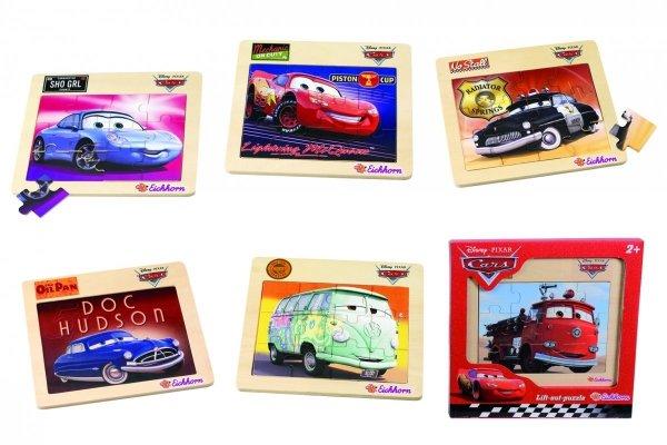 Puzzle Drewniane w Ramce Cars Auta 12 el. Eichhorn 0003253