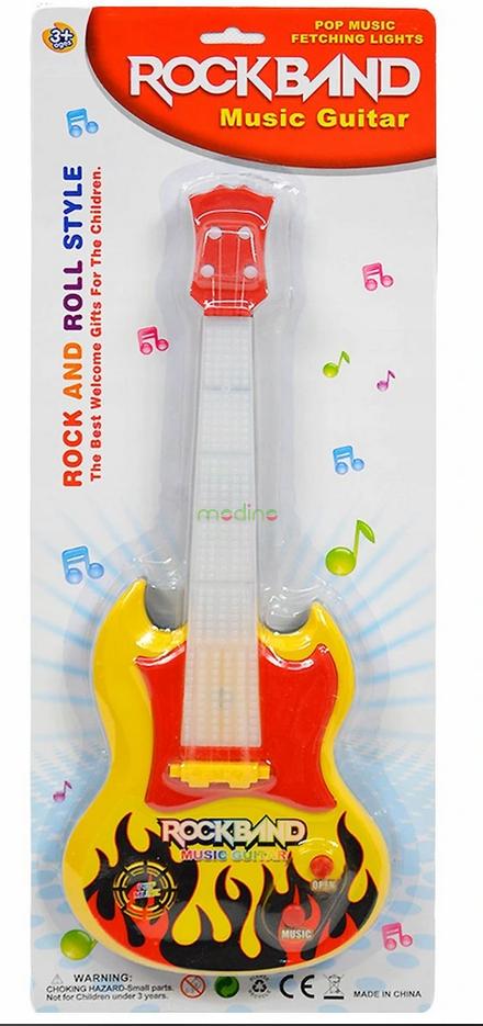 Plastikowa Gitara Elektryczna Światło Dźwięk