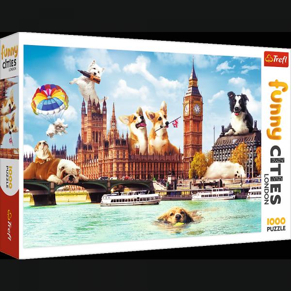 Puzzle Funny Cities Psy w Londynie 1000 el. Trefl 10596