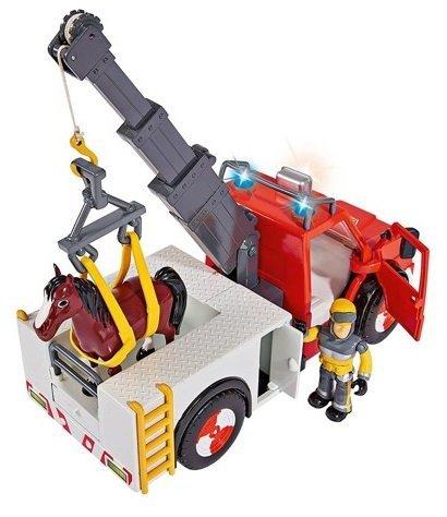 Strażak Sam Wóz strażacki Phoenix z figurką i koniem Simba