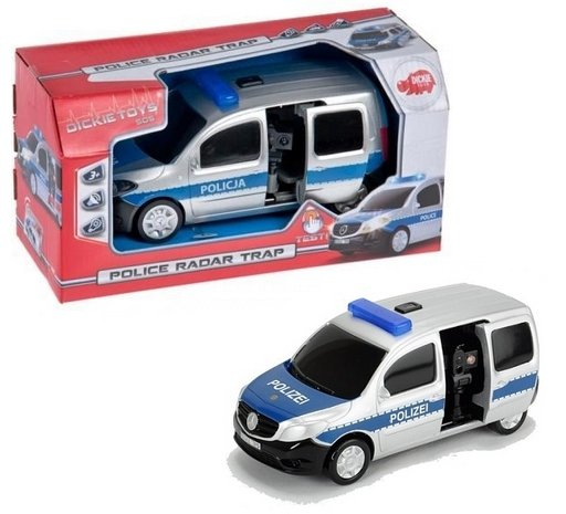 Samochód Mercedes policyjny z radarem Dickie