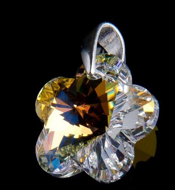 Kwiatki Crystal AB kolczyki