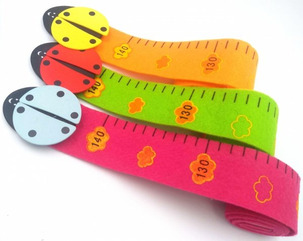 Miarka wzrostu zwierzątka filcowa 140 cm