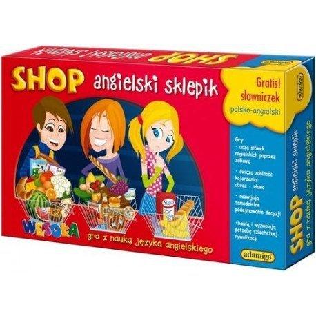 Gra edukacyjna Angielski sklepik Adamigo 00592