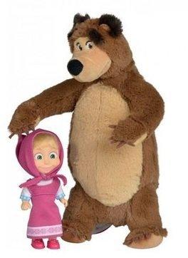 Masza i Niedźwiedź Zestaw pluszowy Misza + laleczka Simba