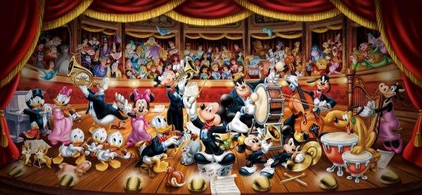 Puzzle Orkiestra Disneya
