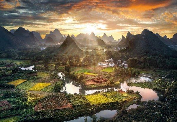 Puzzle Widok na Chiny