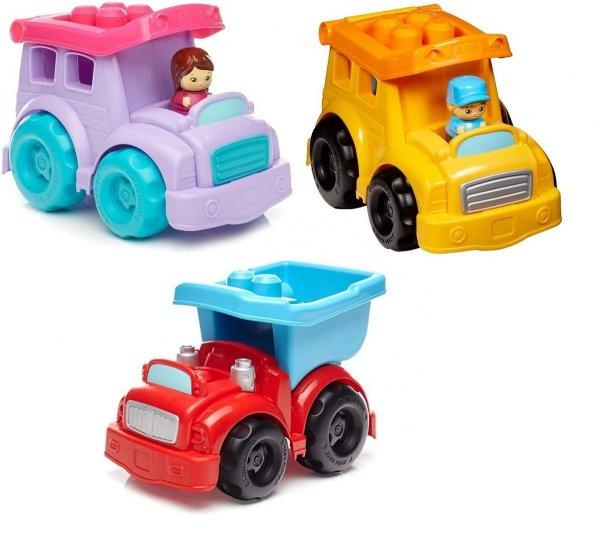 Różne pojazdy 6 klocków figurka