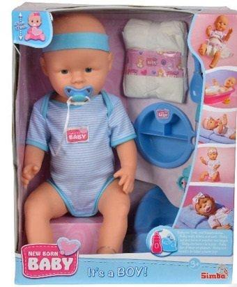 Bobas New Born Baby Chłopiec 43 cm Lalka Siusiająca