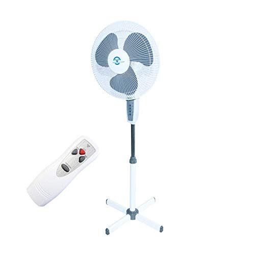 Standventilator 40 Watt Ventilator Klima Lüfter Klimagerät Windmaschine NEU (1 Stk, weiß+pilot)