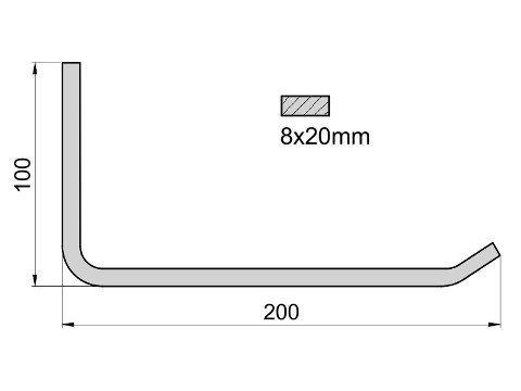 Wieszak na opony K1/8x200 R