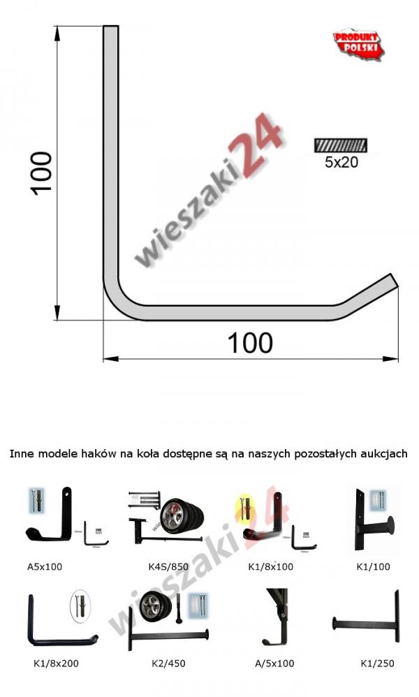 Wieszak na opony K1/5x100