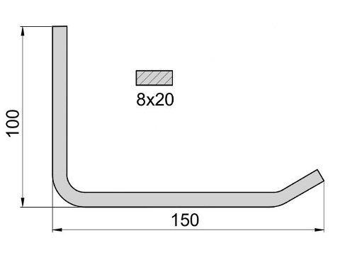 Wieszak na opony K1/8x150 R