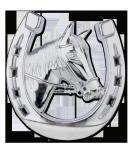 Podkowa z koniem mocowana na atrapie chłodnicy - WALDHAUSEN