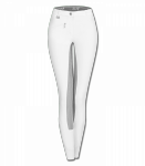 Bryczesy ELT FUN SPORT SILICONE damskie - Waldhausen - pełny silikonowy lej - biały