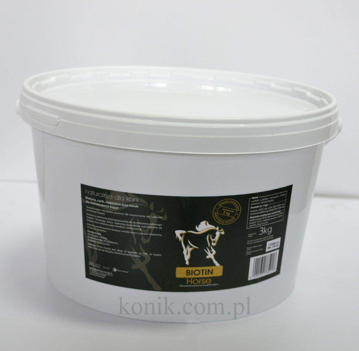 Zaawansowane Biotyna BIOTIN HORSE 3kg - OVER HORSE (edycja limitowana) EC44