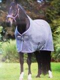 Derka osuszająca RAMBO Deluxe Fleece - HORSEWARE - charcoal/silver/raspberry