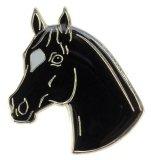 Znaczek ozdobny 86 - głowa karego konia z gwiazdką - HappyRoss