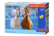 Puzzle THE WINTER HORSES 260 elementów - Castorland