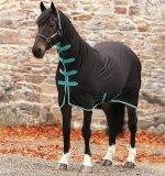 Derka osuszająca z kołnierzem AMIGO Jersey Cooler All In One - HORSEWARE - Black & Teal & Dark Cherry