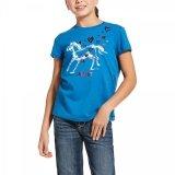 Koszulka młodzieżowa PONY LOVE AW20 - Ariat - blue down