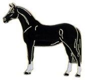 Znaczek ozdobny 87 - stojący kary koń - HappyRoss