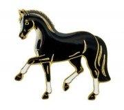 Znaczek ozdobny 33 - kłusujący kary koń - HappyRoss