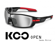 Okulary KOO Open - Smoke Mirror - black/red