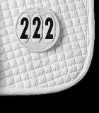 Numerek startowy na czaprak 3 cyfry - Waldhausen - okrągły