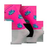 Podkolanówki jeździeckie OWL - Comodo - różowy neonowy