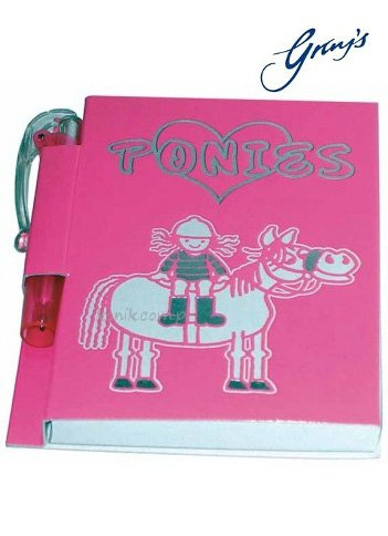 Notesik LOVE PONIES - GRAY'S