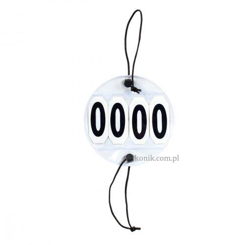 Numerek startowy 4 cyfry na gumkach - HORZE