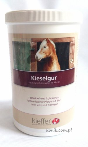 Suplement uzupełniający dla koni poprawiający stan skóry i włosa  KIESELGUR 500g - Kieffer