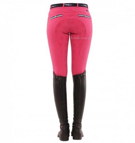 Bryczesy damskie RICARDA GRIP pink z pełnym silikonowym lejem - SPOOKS