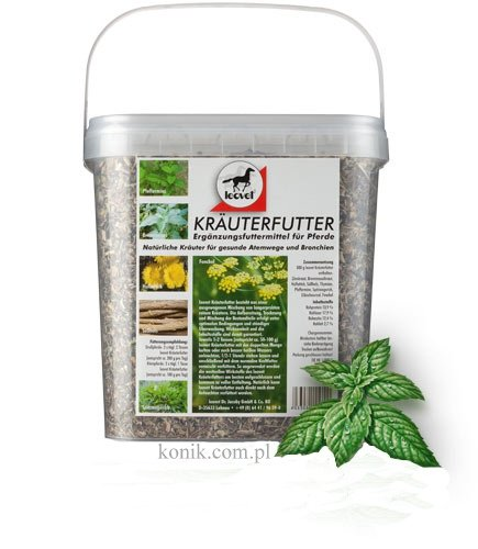 Zioła lecznicze wspomagające drogi oddechowe Krauterfutter - LEOVET
