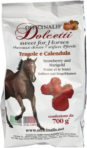 Cukierki dla konia DOLCETTI truskawka/nagietek - OFFICINALIS