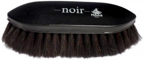 Mała szczotka z naturalnego włosia Noir - HAAS