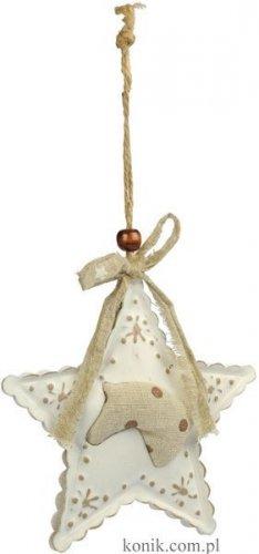 Ozdoba świąteczna gwiazdka z głową konia - Ekkia
