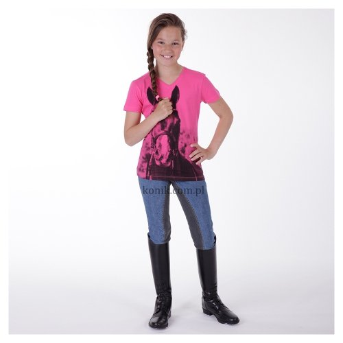Koszulka dziecięca z nadrukiem ATK151302 - ANKY - MAGENTA