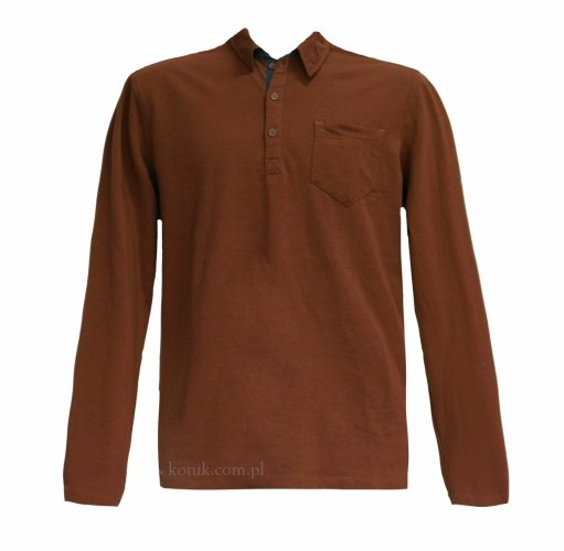 Koszulka polo z długim rękawem męska - ANKY
