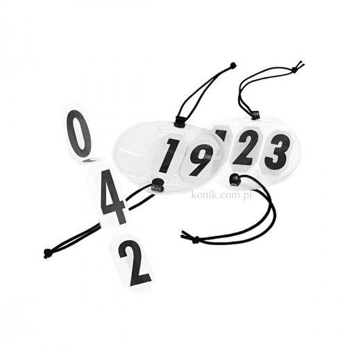 Numerek startowy 3 cyfry mocowane na gumki 2 szt - HORZE