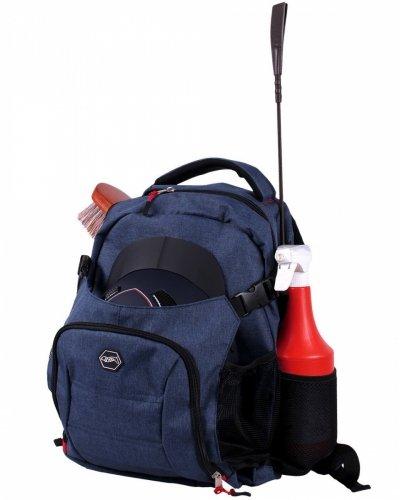 Plecak na akcesoria jeździeckie - QHP - granatowy