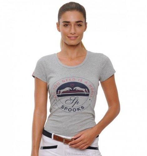 Koszulka damska Horse SPOOKS - grey