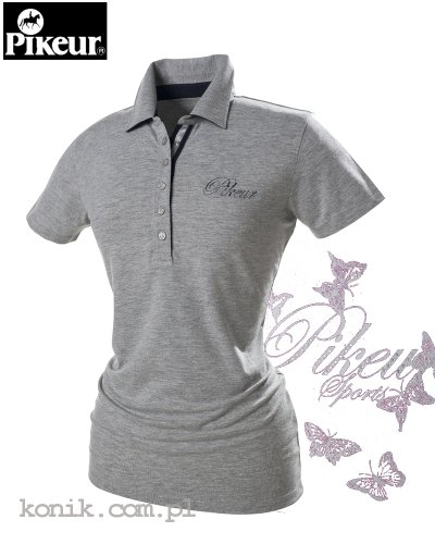 Koszulka polo Pikeur DOLLY - grey melange